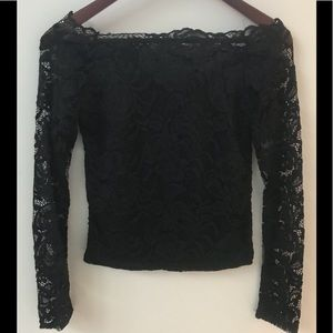 NWT! Black lace top